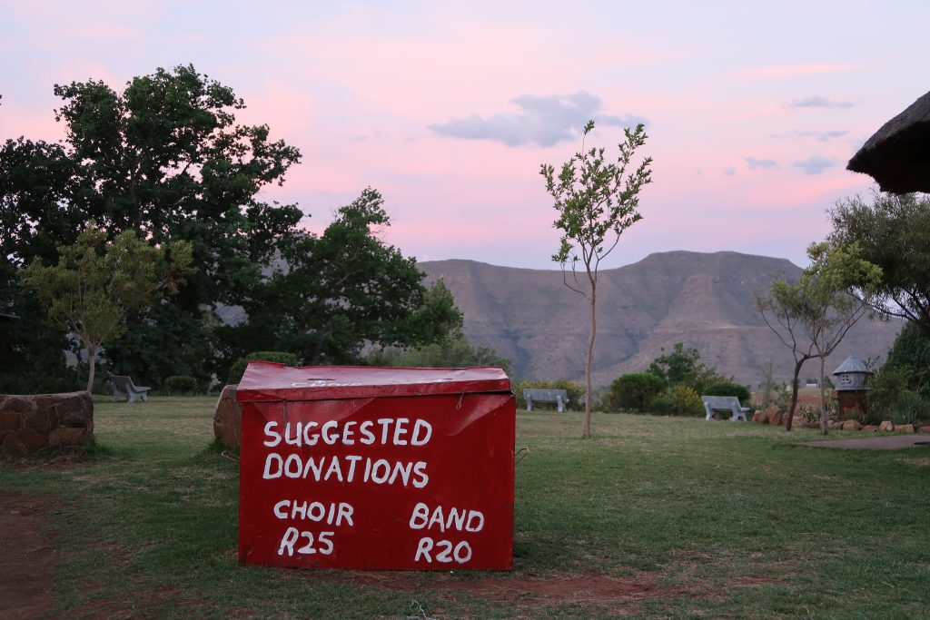 donations at sunset, photo by Kelly Benning