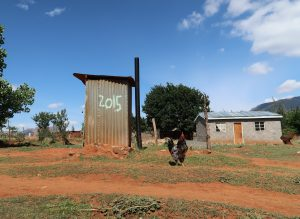 Outdoor Toilet Constructed 2015, photo by Kelly Benning
