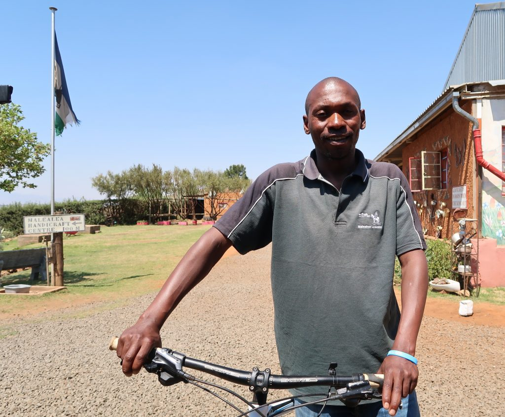 Ntate Tsoeunyane Malealea with his bike